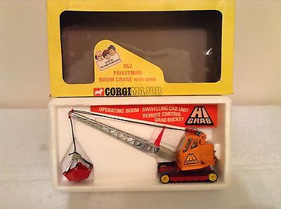 CORGI 1153 PRIESTMAN BOOM CRANE WITH GRAB in Superb Mint Condition in Box