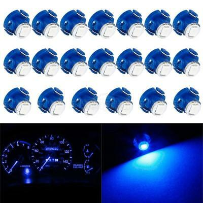 20Pcs Blue 2835 SMD T4/T4.2Neo Wedge 1 LED Dash Switch Panel Lights 10mm