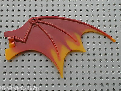 1 x LEGO dragon ailes rouge orange 19x11 dragon ailes dragon wing 7017 51342