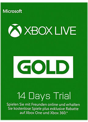XBOX 360 LIVE 14 TAGE ONE GOLD TEST MITGLIEDSCHAFT KEY 14 days subscription CODE