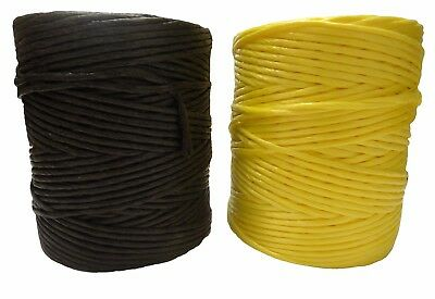 4mm Polypropylene 1kg Twine Spool Black Yellow String Office Garden Crafts Cord