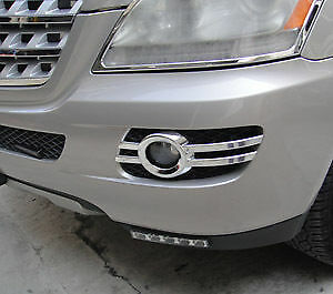 Mercedes Benz Ml Class 4 Door Suv W164 New Chrome Fog Light Trims 2005 - 2008
