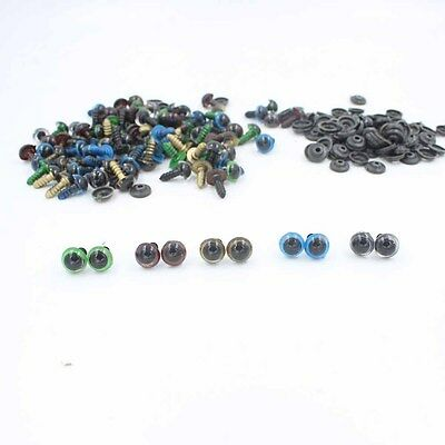 100pcs 10mm Color Plastic Safety Eyes For Teddy Bear Doll Animal Puppet Crafts