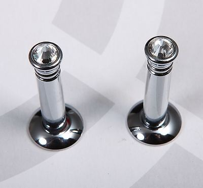 Mercedes Benz New Chrome Genuine Crystal Door Lock Pins  A B C E S Slk Sl Class