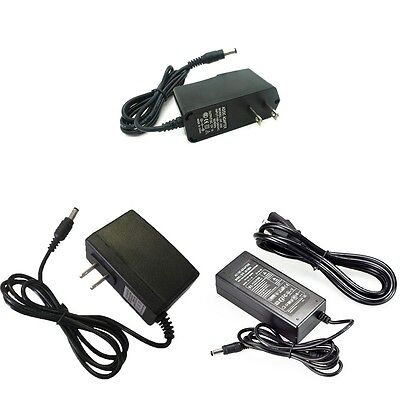12V 8A 6A 5A 2A 1A 0.5A 5.5mm 2.5mm AC DC Power Supply Adapter lots wholesale