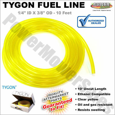 """Tygon Fuel Line 1/4"""" ID X 3/8"""" OD - 10' roll clear yellow - Ethanol Compatible"""