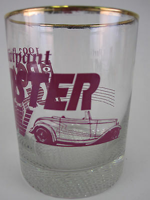 Vtg 1993 Portland, OR Roadster Show Participant Glass Drink Tumbler Barware #1