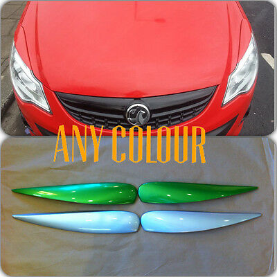 *brand New* Vauxhall Corsa D 2006 On Eyebrows / Eyelids Painted Any Colour + Vxr