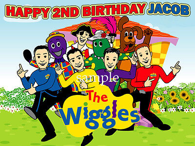 the WIGGLES Personalized Edible CAKE Topper Icing Image FREE SHIPPING