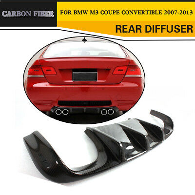 Rear Lip Deep Diffuser Fit for BMW E92 M3 E93 Bumper Carbon Fiber Dual Outlet