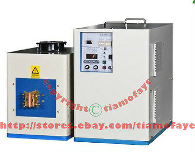 40KW 50-200KHz Ultra HIGH Frequency Induction Heater Melter Dual Statation
