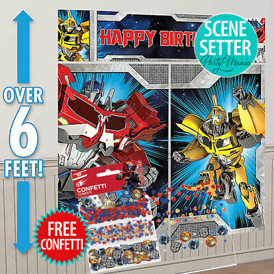 Transformers Boys Birthday Party Supplies Decorations Game For 2-8 Players