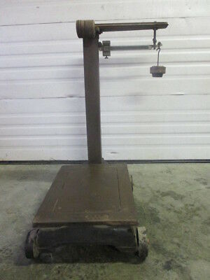 ANTIQUE FAIRBANKS PLATFORM SCALE WITH WEIGHTS 1,000 lbs Capasity