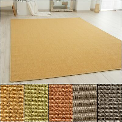 100% Natural Sisal Rug Acapulco Whipped Border Antislip Back Small X-Large