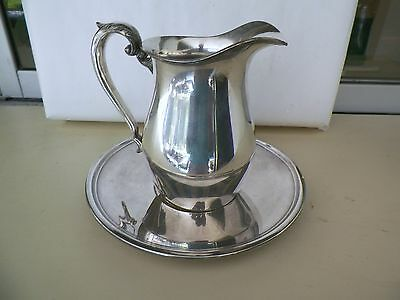 Silverplated Crescent Pitcher &  Reed Barton Tray