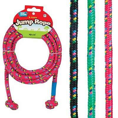 8 Foot Jump Rope Braided Nylon Outdoot Play Playground Camping