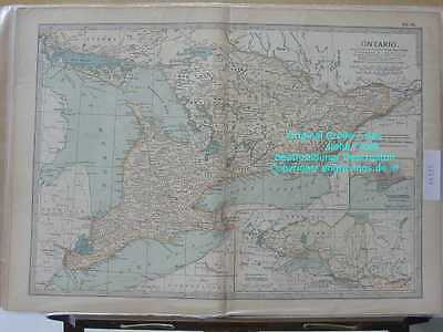 46335-AMERIKA-AMERICA-KANADA-CANADA-ONTARIO-MAP-1902-Lithographie-Lithography