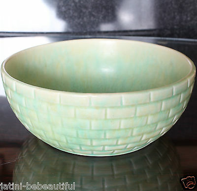 "Art Deco Flaxman Ware WADE HEATH Hand Made 8"" Fruit/Salad Bowl"