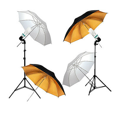 "400W Photo Studio Light 4 x 32"" Umbrellas Video Photography Lighting Kit GLC056"