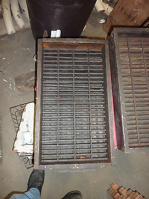 salvaged ANTIQUE WOODEN warehouse factory box tray GREAT decor storage 23 X 13""