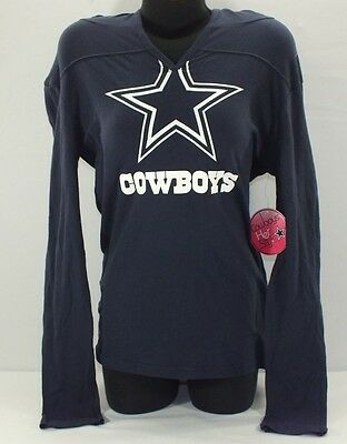 Dallas Cowboys Nfl Women T-Shirt Hooded Long Sleeve By Cowboys Her Style G20