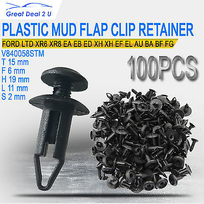 100pcs For Ford Scrivet Clip Radiator Cowl Inner Guard Air Intake Pipe StoneTray