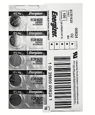 35 PCs Energizer CR1620 Lithium Coin Cell 3V Fresh Date Code Batteries Exp: 2026