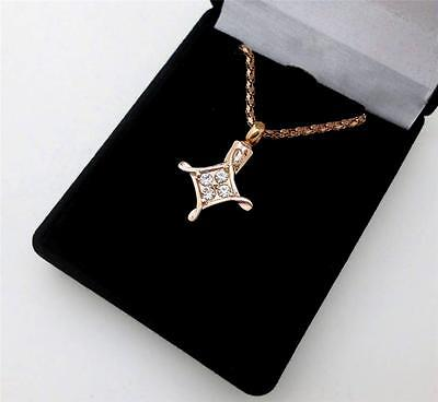 316L Stainless Steel Rose Gold Diamond (cz) Cross Memorial Cremation Urn Pendant