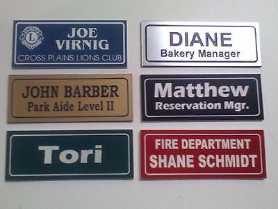 1X3 Employee Personalized Name Tag Engraved