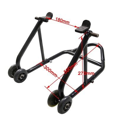 Motorcycle Racing Front Rear Tire Lift Stand Tool Fork Paddock Race Lift Jack
