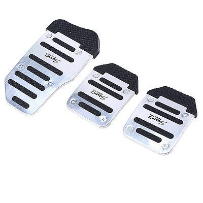 Universal Racing Sports Silvery Non-Slip Manual Car/Truck Foot Pedals Pad Cover