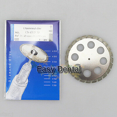 2pcs Diamond Disc for Dental Cutting Plaster 45mm x 0.30mm Disk Wheel