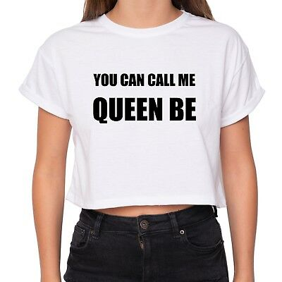 e7a90b678c You Can Call Me Queen B Crop Top T Shirt Surfboard Kale Tumblr Swag Fangirl  New