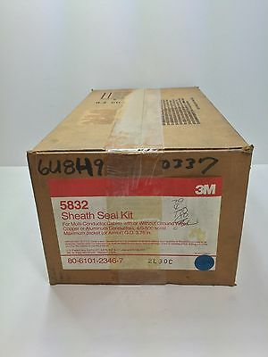 New! 3M Sheath Seal Kit 5832 For Multiconductor Cables W Or W/ Out Ground Wires