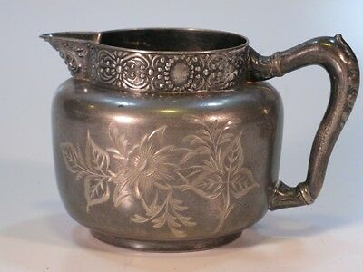 Colonial Silverplate Co.1001 creamer Hand engraved!