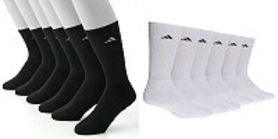 Adidas 3 Pair ClimaLite Crew Performance Socks Men's Shoe Size 6-12