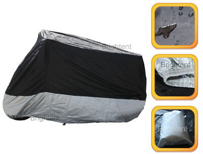 Waterproof Motorcycle Cover Universal Fit For Honda Yamaha Suzuki Bikes WM2BS