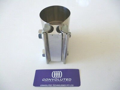 """Stainless steel lap band exhaust clamp for 2-1/2"""" or 65mm"""