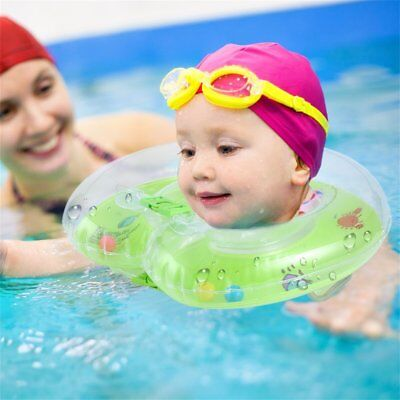 New Baby Aids Infant Swimming Neck Float Inflatable Tube Ring Safety OK