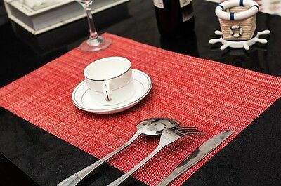 Set of 6 Table Placemats-- 7 Colours Can Be Chosen From