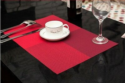 Set of 4 Table Placemats-- 10 Colours Can Be Chosen From