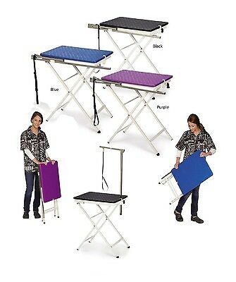 """Folding Dog Groomer Table Versa Competition Grooming Arm Loop 28.5"""" Holds 50lbs"""