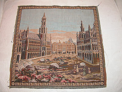 """Completed 19"""" Square Tapestries - Brugge - Gent - Brussel - Sold Separately"""