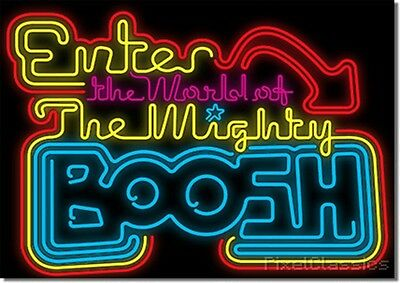 The Mighty Boosh Poster 'Enter The World Of' Neon Light Sign Artwork - A4 A6
