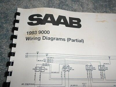 1993 SAAB 9000 WIRING DIAGRAMS PARTIAL FACTORY OEM saab 9000 radio wiring diagram buick regal radio wiring diagram saab 9000 radio wiring diagram at bakdesigns.co