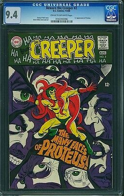 Cgc Beware The Creeper, D.c Ditko, 2 Nm 9.4 1968 0143393006