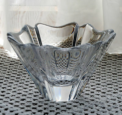 Beautiful ORREFORS SIGNED ART GLASS ORION CRYSTAL BOWL DISH Made in  Sweden