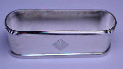 Antique Towle Sterling Silver Large 2 7/8 Inch Wide Oval Napkin Ring 25.2 Grams