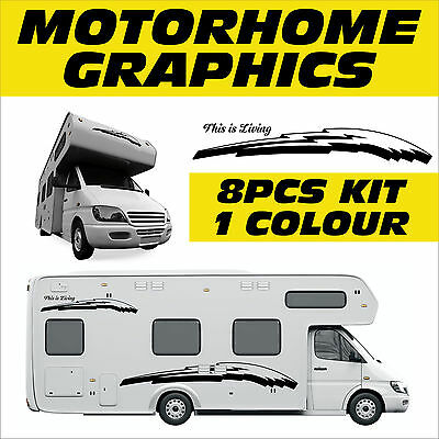 Motorhome Graphic,Campervan Adhesive Stickers, Exterior Signs & Decals, MHAB005