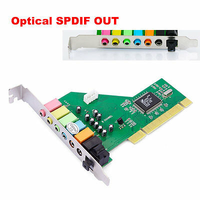 New 8 Channel 7.1 Surround 3D PCI Sound Audio Card for PC Windows XP/Vista/7